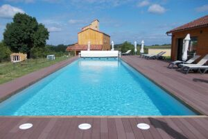 Piscine bois Rectangulaire piscine bois difkoisirs a saint sulpice