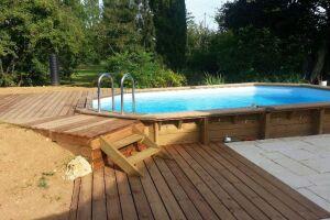 Réalisation piscine bois + terrasses