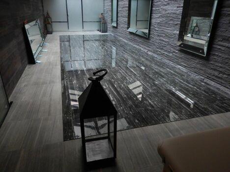 #FondMobile  Fond mobile avec un revêtement de finition en marbre