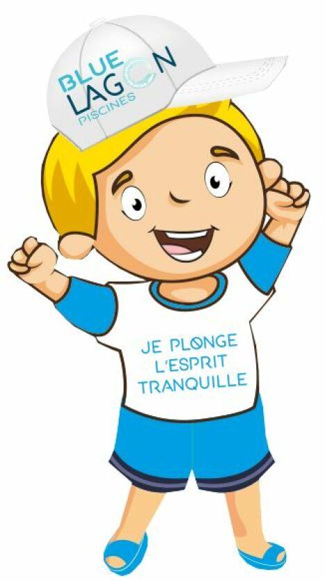 """mascotte du réseau """"Rés'O Blue Lagon"""""""