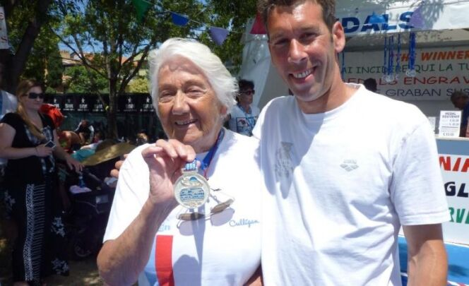 """A 95 ans, elle pulvérise trois records d'Europe<span class=""""normal italic petit"""">© Tendance Ouest</span>"""