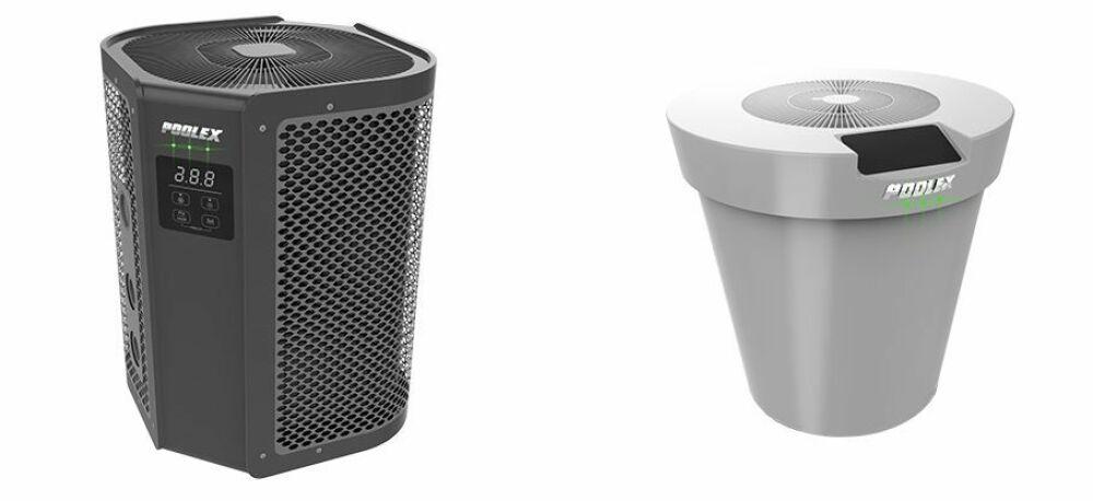 A gauche, la pompe à chaleur Vertigo Fi, à droite le modèle Platinum Mini© Poolex