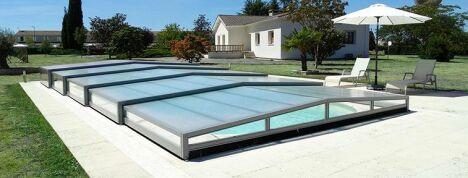 Abri de piscine bas télescopique posé à Cazère près de Toulouse