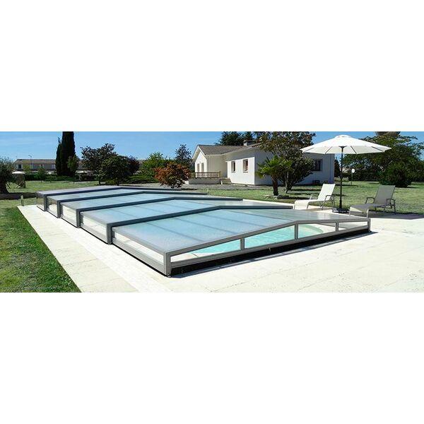 Octavia abris de piscine carbonne pisciniste haute for Abri piscine telescopique