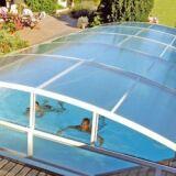 Abri de piscine coulissant haut de gamme Brio Abridéal