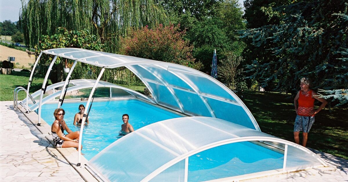 Abri de piscine amovible primo version roman classique for Piscine miroir fonctionnement