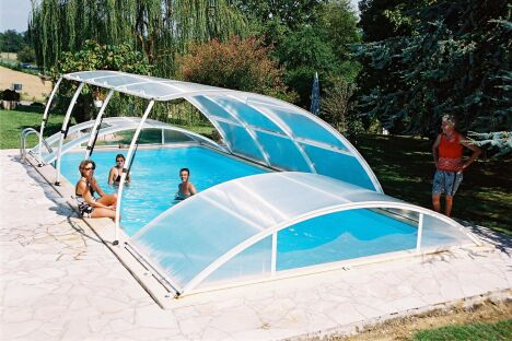 abri de piscine amovible primo version roman classique abrid al. Black Bedroom Furniture Sets. Home Design Ideas