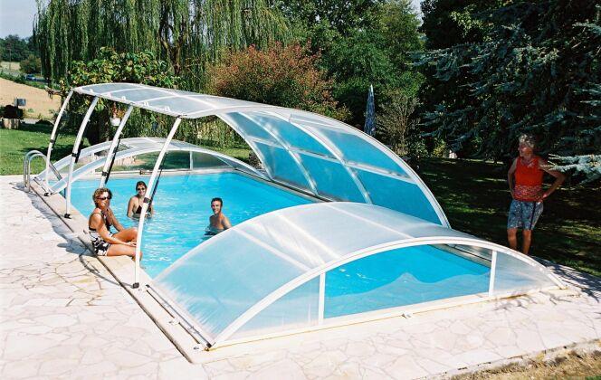 Abri de piscine amovible Pimo version classique Abridéal © Abridéal