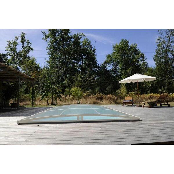 Abri de piscine amovible primo version roman bas abrid al for Abri de piscine amovible