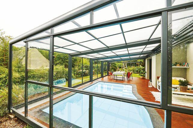 Abri de piscine Attik 1 angle