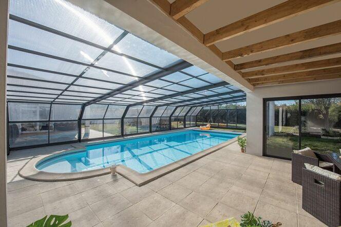 Abri de piscine Attik angulaire