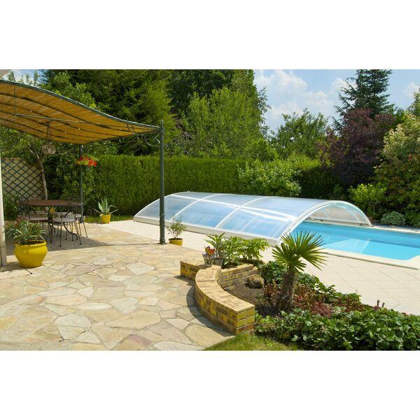 L abri de piscine bas sur mesure for Abri piscine sur mesure