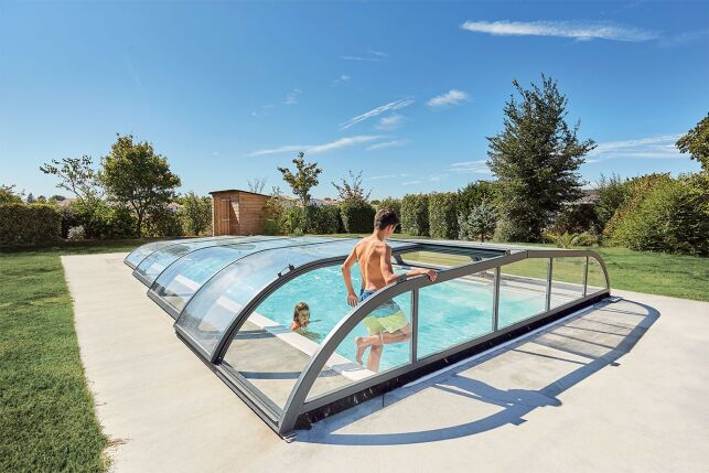 Abri de piscine Elliptik bas