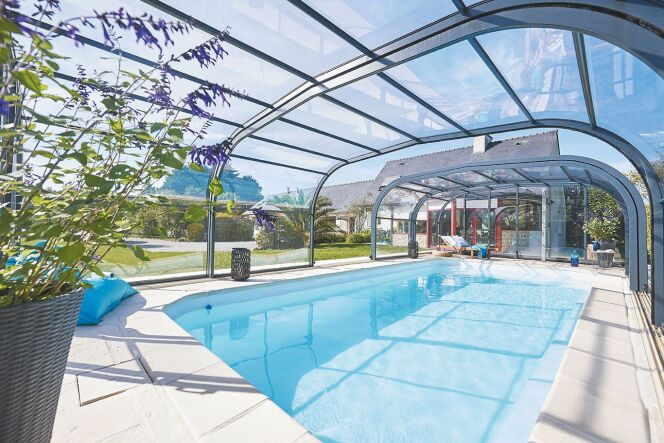 Abri de piscine Elliptik haut télescopique