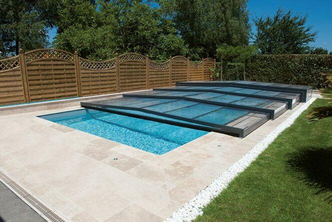Abri de piscine Elliptik semi-plat