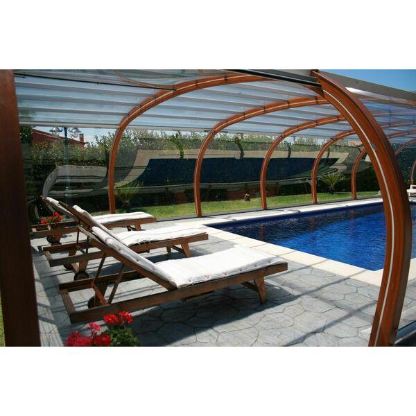 Abri de piscine en bois haut fixe for Abri piscine haut fixe