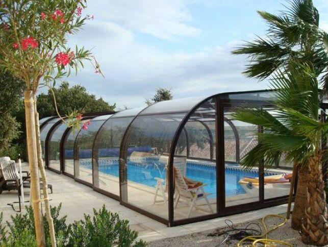Abri de piscine haut en aluminium Sun Abris
