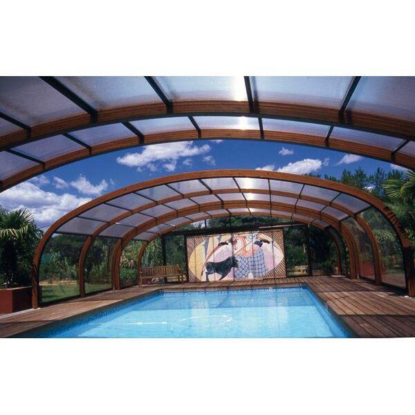 Abri de piscine haut en bois sun abris for Abri piscine bois