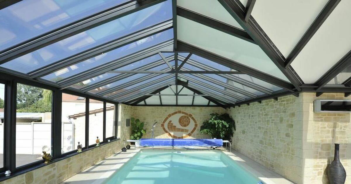 L 39 abri de piscine mural adoss votre maison for Abri de piscine veranda