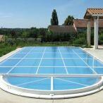 """Abri de piscine Primo version """"plat"""" Abridéal"""