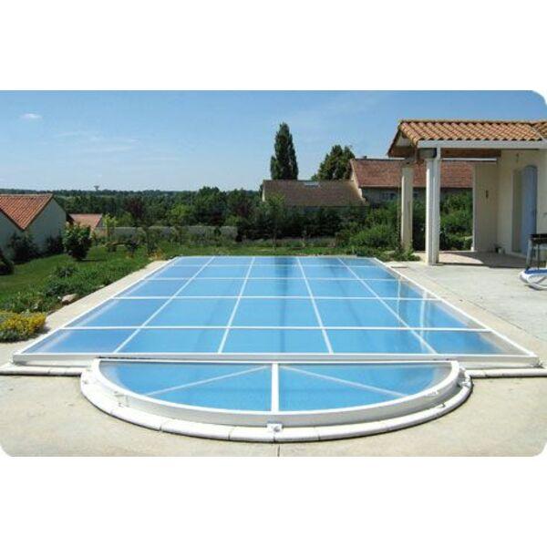 Abri de piscine primo version plat abrid al - Prix abri piscine plat ...