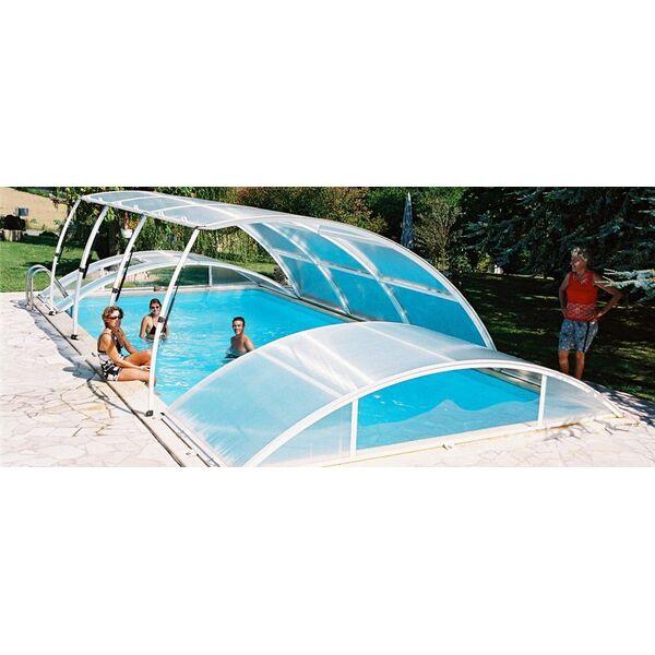 Abri de piscine relevable ou escamotable for Abri piscine relevable