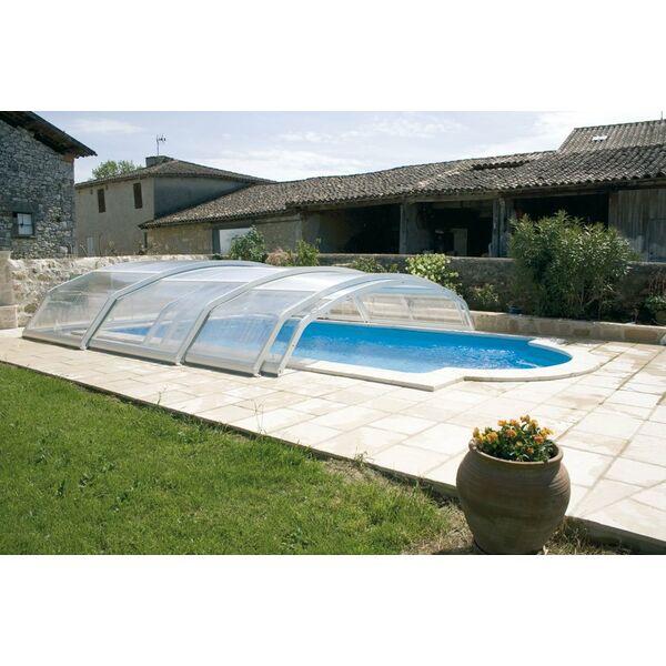 un abri de piscine semi coulissant ou t lescopique faire. Black Bedroom Furniture Sets. Home Design Ideas