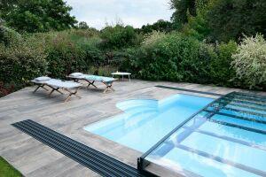 Abri de piscine semi plat Rénoval
