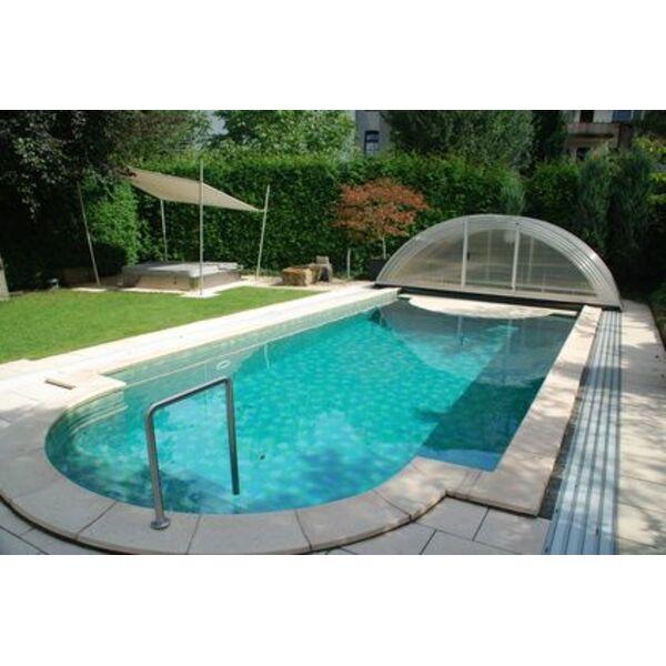 L 39 abri de piscine sur rails un abri facile d placer for Abris piscine coulissant sans rail