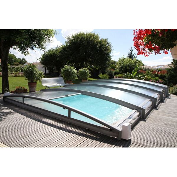 Abri de piscine t lescopique cintr azenco for Renoval abris de piscine