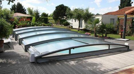 Abri de piscine télescopique cintré Azenco