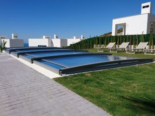 Azenco présente son abri piscine télescopique Néo Smart
