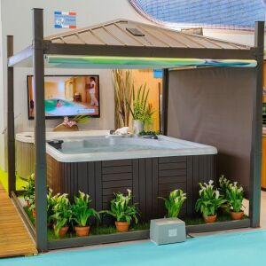 abri pour spa gonflable pop up abri de spa ext rieur. Black Bedroom Furniture Sets. Home Design Ideas