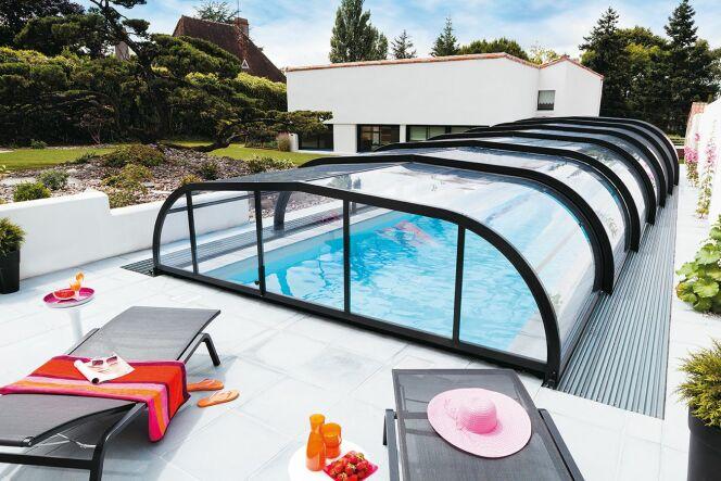 Abri piscine Elliptik Mi-Haut