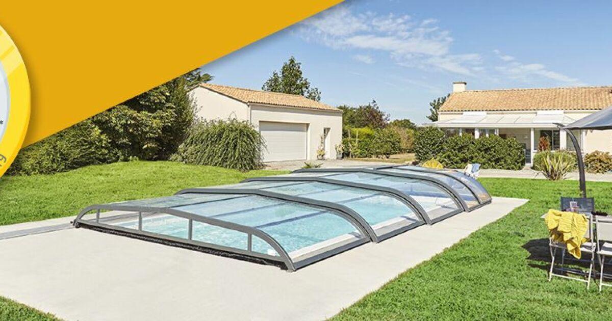 abri piscine rideau la pose 1. Black Bedroom Furniture Sets. Home Design Ideas