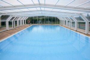 Pose d'un abri de piscine haut - Sphère Confort