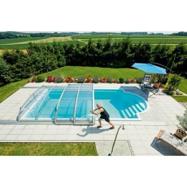 Piscine abris du soleil marguerittes pisciniste for Reparation abris de piscine