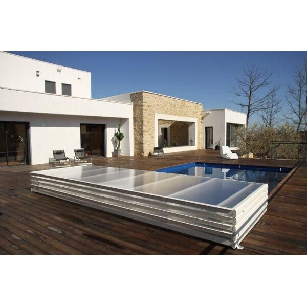 Abri plat amovible par azenco for Abris piscine plat