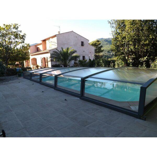Abri t lescopique neo par azenco for Abri piscine azenco