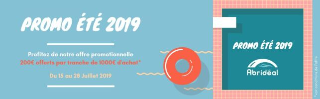 Abridéal : Promo été 2019