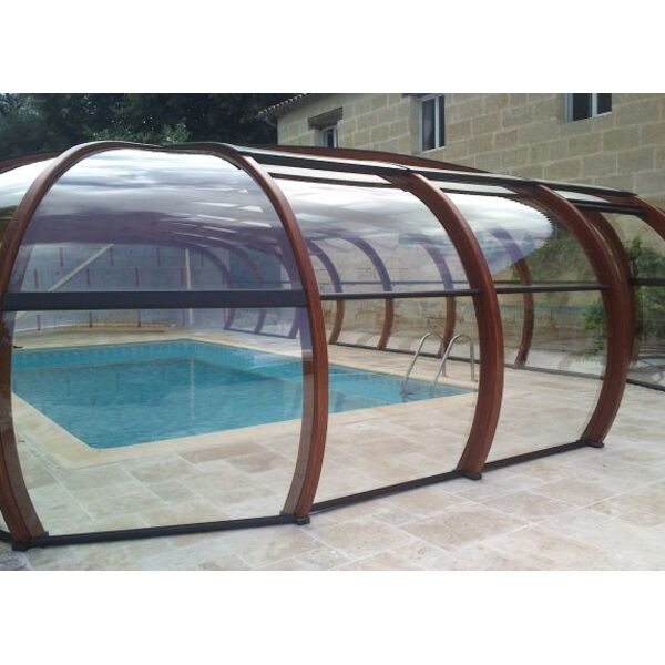 abris de piscine en bois lamell coll arcabri - Abri Piscine Bois Lamelle Colle