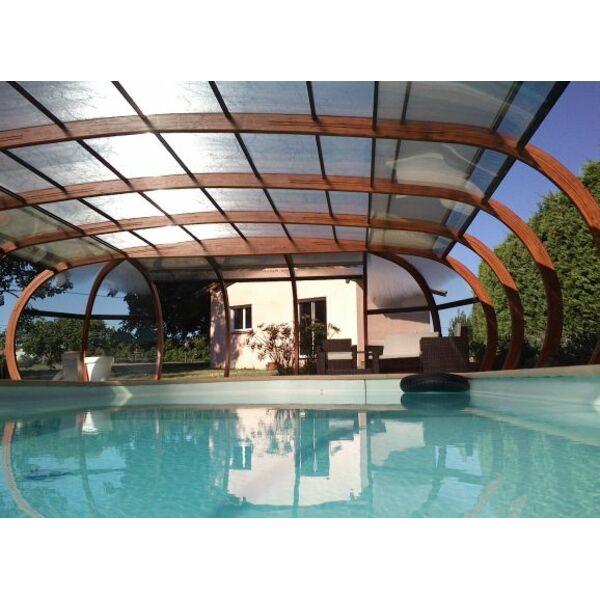 Abris de piscine en bois lamell coll arcabri - Abri piscine bois lamelle colle ...