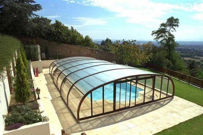 Abri piscine en bois 28 images reportage photos abris for Abri piscine bois