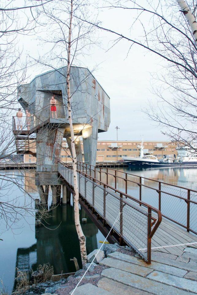 L'accès au sauna