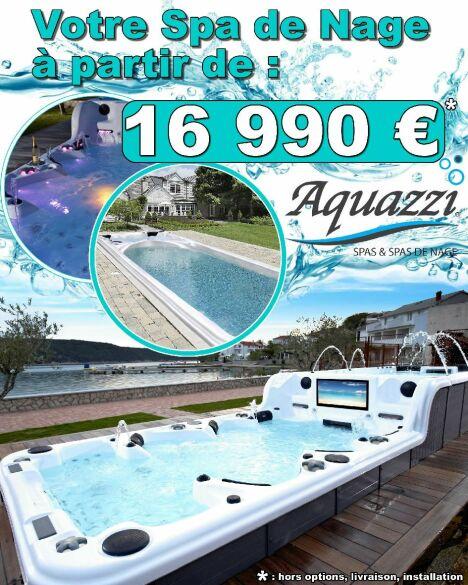 """Aquazzi, votre spa de nage au meilleur prix<span class=""""normal italic petit"""">DR</span>"""