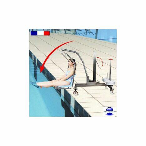 """Agrandir l'image Lève personne de piscine mobile <span class=""""normal italic petit"""">© Aquagyms</span>"""