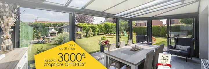 Jusqu'à 3 000€ d'équipements offerts sur votre véranda Akena - Guide-Piscine.fr