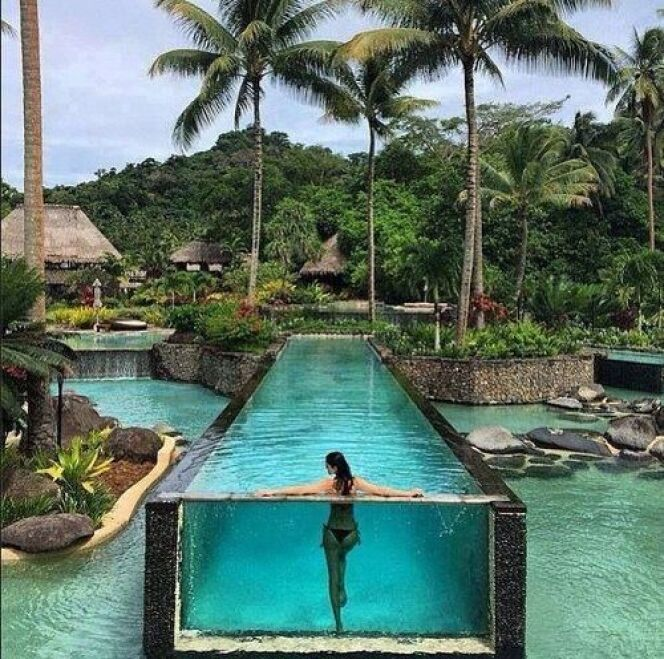 Amanda Wellsh, mannequin, a notamment partagé cette photo du Laucala Island Resort