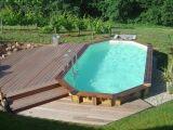 Aménagement d'une piscine semi-enterrée