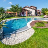 Photos d'aménagement de jardin avec piscine
